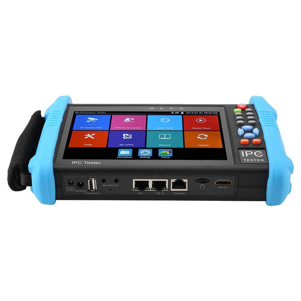 UK Plug-IPC-9800-Plus IPC-9800 Plus Series 7 IP CCTV Tester 4K H.265 Onvif TVI CVI AHD Analog AC 100-240V