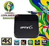 IPTVKINGS IPTV6 Edition 4K Ultra HD HTV6 possui mais de 200 canais de TV, muitos deles em UHD e Bluetooth, Android 5.1 e muitos canais de entretenimento, infantis, esportivos, filmes e séries