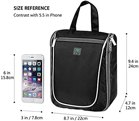 Goldwheat Waterproof Travel Toiletry Bag for Women Men Cosmetic Travel  Organizer Hanging Toiletry Kit, Black 1d1278f46b