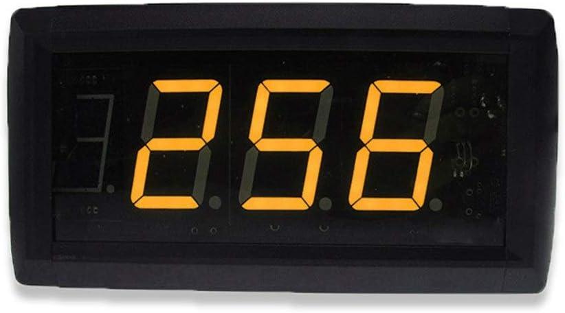 LEDデジタルタイマー リモートコントロール付き1.8インチLEDデジタルインターバルタイマーカウントダウンウォールクロック 大きな赤い数字ディスプレイ (色 : ブラック, サイズ : 20.5X10X4CM) ブラック 20.5X10X4CM