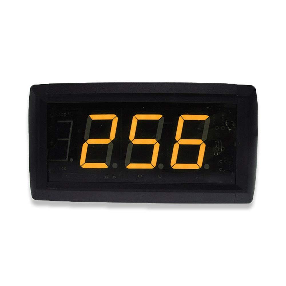 なデジタルLED壁掛け時計 リモートコントロール付き1.8インチLEDデジタルインターバルタイマーカウントダウンウォールクロック (色 : ブラック, サイズ : 20.5X10X4CM) ブラック 20.5X10X4CM