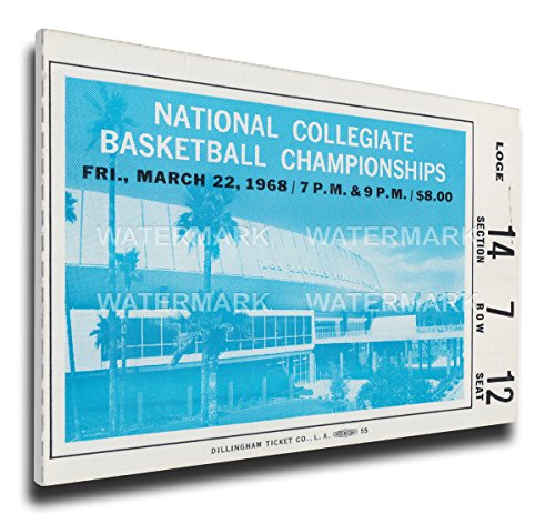 (NCAA UCLA Bruins 1968 Basketball Championship Mega Ticket)