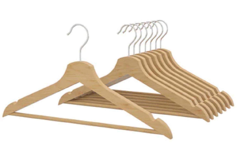 8 Paquete Naturales Ikea BUMERANG Curved suspensión de Ropa