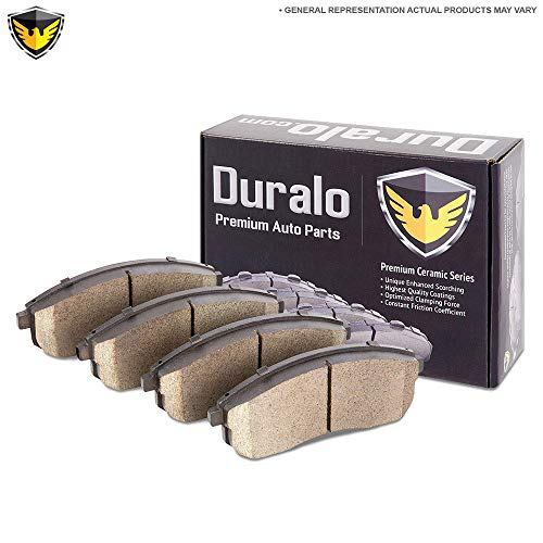 (Ceramic Front Brake Pads For VW Beetle CC Eos GTI Golf Jetta Passat Audi A3 - Duralo 144-1193 New)