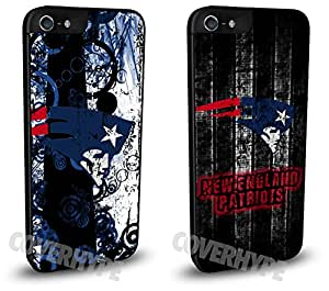 New England Patriots Cell Phone Hard Case TWO PACK for iPhone 5/5s
