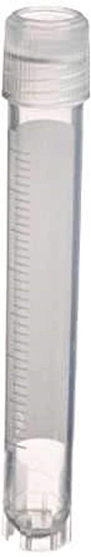 5 mL Volume External Threading Self-Standing Base 12.5 mm Diameter x 92 mm Height Pack of 10 Simport T310-5A Cryovials Premium Polypropylene Vial and Cap