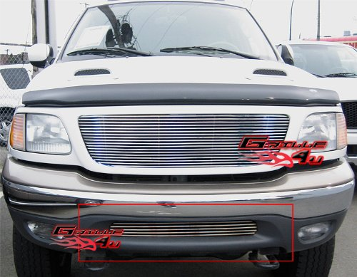 APS F85085A Polished Aluminum Billet Grille Replacement for select Ford F-150 Models 03 Ford F150 Billet Grille