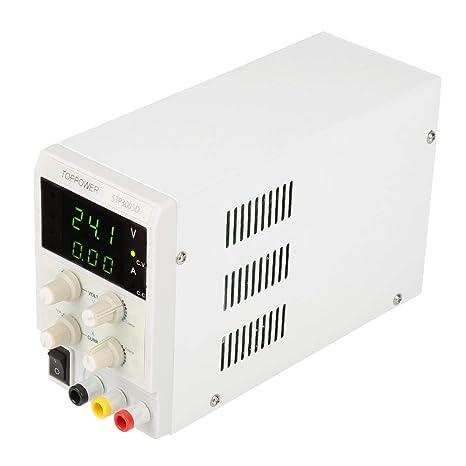 Fuente de alimentación DC regulada, Skytoppower STP3005D Fuentes de alimentación de laboratorio DC regulada variable 0-30V 0-5A 110 / 220V Fuente de ...