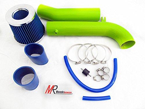95 96 97 98 99 00 01 02 Honda Accord V6 2.7L/3.0L GREEN Piping Cold Air Intake System Kit with Blue Filter (Green Filter Cold Air Intake)