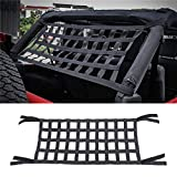 Rear Top Cargo Net Car Hammocks Bed Cargo Net Rest for Jeep Wrangler,High Strength Oxford Cloth Car Roof Hammock for Jeep Wrangler YJ, TJ, YJ,JK,JL 1997-2018(157x54cm)