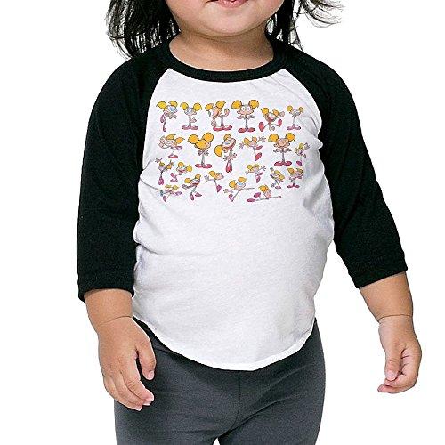 Dexter Dee Dee Raglan Tee Toddler Soft Cotton Long Sleeve 3/4 Kids Personalize