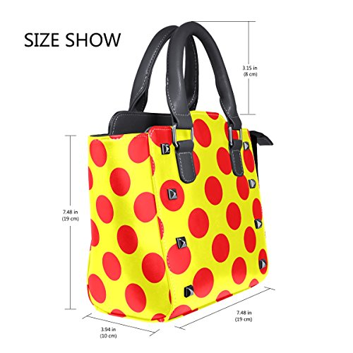 LIANCHENYI Single Crossbody Shoulder Bag For Bags Polka Cute Poke Top Handle Women Messenger Dot Leather Red Tote Handbags PU v4xOqrvF