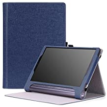 MoKo Lenovo Yoga Tab 3 Plus / Lenovo Yoga Tab 3 pro 10 Case - Slim Folding Cover Case for Lenovo Yoga Tab 3 Plus 10.1/ Lenovo YOGA Tab 3 Pro 10.1 Inch Tablet, INDIGO