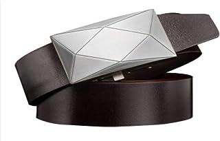 Lanceyy Cintura Uomo Nener Fibbia Automatica Business Uomo Uomo Casual Stile Semplice Cintura Cintura In Pelle 100 Cm