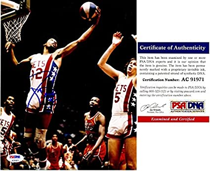 ca51948f6392 Julius Erving - Dr. J Signed - Autographed New Jersey Nets 8x10 inch ...