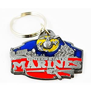 US Marines Keychain Military Collectibles Patriotic Gifts Men Women Veterans