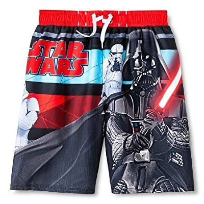 Star Wars Darth Vader Boys Red Swimsuit Trunk Size 7