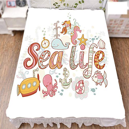 iPrint Bed Skirt Dust Ruffle Bed Wrap 3D Print,Wildlife Creatures Animals Cute Cartoon Style,Fashion Personality Customization adds Color to Your Bedroom. by 47.2''x78.7'' by iPrint