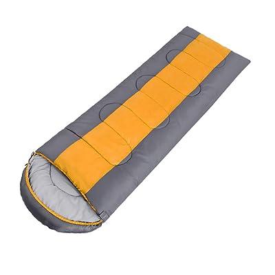 ZXQZ Sac de Couchage Adulte Extérieure Portable Voyage Épais Chaud Sac de Couchage Intérieur Pause Déjeuner Sac de Couchage Sac de couchage adulte ( Couleur : Orange , taille : 1.8kg )