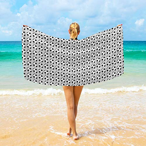 NiYoung Luxury Bath Towels Wash Cloths for Home, Hotel, Spa, Pool - Soccer Print Towels, Ultra Soft Shower & Bath Towel Extra Large Ultra Absorbent Bathroom Towel
