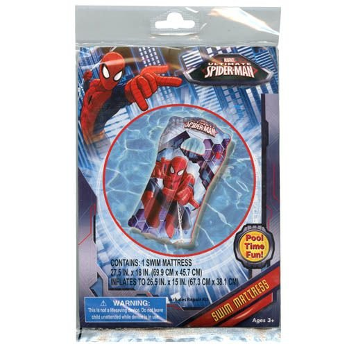 Marvel Spider-Man Inflatable Swim Summer Fun Package Deal (Floaties, Beach Ball, Swim Ring, Mallet, Sword, Raft) by Marvel (Image #6)