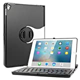iPad Pro 9.7 Keyboard Case, Boriyuan Protective Folio Ultra Slim Hard Shell Case with Wireless Bluetooth Keyboard, 360 Degree Rotation and Multiple Angle Viewing for Apple iPad Pro 9.7 inch 2016 Table