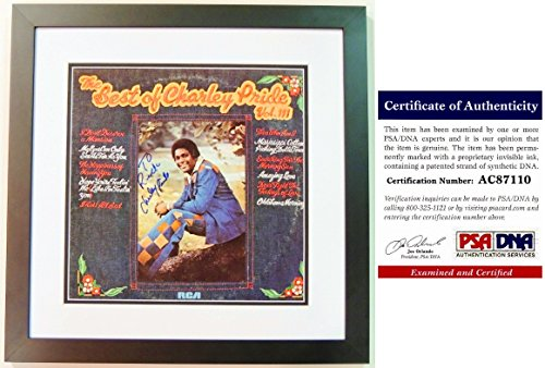 Charley Pride Signed - Autographed The Best Of Charley Pride Volume III LP Record Album Cover with PSA/DNA Certificate of Authenticity (COA) BLACK CUSTOM FRAME - Personalized To Rick