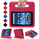 BLUEWIND All New Fire 7 2017 Case, Protective Kids Case for Fire 7 2017 Tablet (7th Generation, 2017 Release) Light Weight Shock Proof with Handle Stand Kids Case Cover for Fire 7 2017 Tablet,Magenta