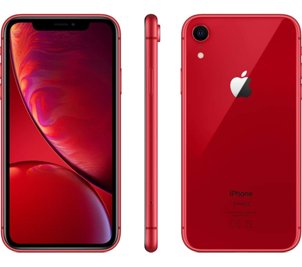 Apple iPhone XR, Fully Unlocked, 64 GB - Red (Renewed) by Apple