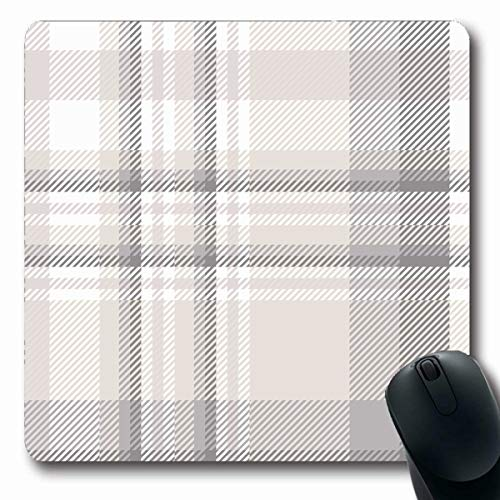 LifeCO Computer Mousepads Abstract Gray English Plaid Check Pattern Beige Grey in Pyjamas White Classic Countryside Tan Autumn Oblong Shape 7.9 x 9.5 Inches Oblong Gaming Mouse Pad Non-Slip Rubber (Quilts Countryside)