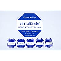 SimpliSafe Home Security System Sign Combo Set Yard Sign x1 Window Decals x5