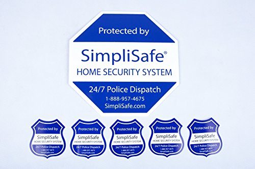 SimpliSafe Home Security System Sign Combo Set Yard Sign x1