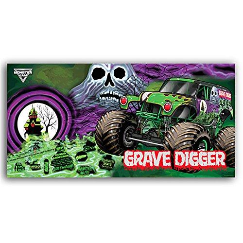 Towel Jam - Monster Jam Grave Digger Ghost Beach Towel