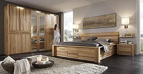 Schlafzimmer Sofia Kernbuche massiv gewachst komplett: Amazon.de ...