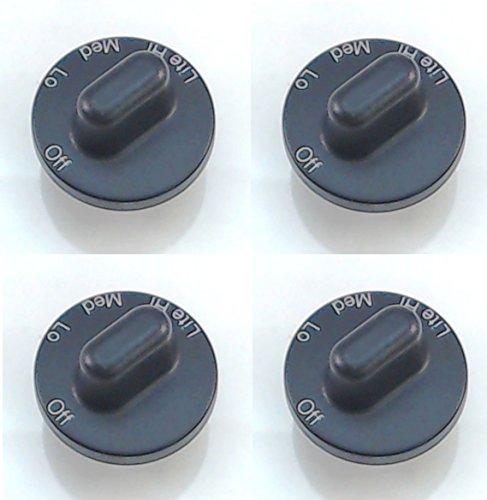 Surface Burner Knob 4 Pack for Maytag, Jenn Air, AP4088491, PS2077264, 71001641
