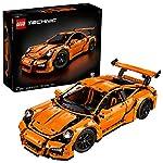LEGO Technic Porsche 911GT3RS 2704pieza (S) Set da Costruzione–Gioco di Costruzioni, 16Anno (S), 2704Pezzo (S), Bambino, Nero, Arancione, 25cm, 57cm  LEGO
