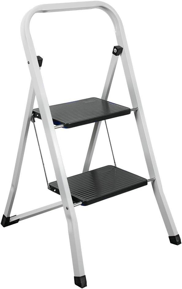 Metaltex PIRENEO Escalera Plegable 2 peldaños, 47x47x83 cm: Amazon.es: Hogar