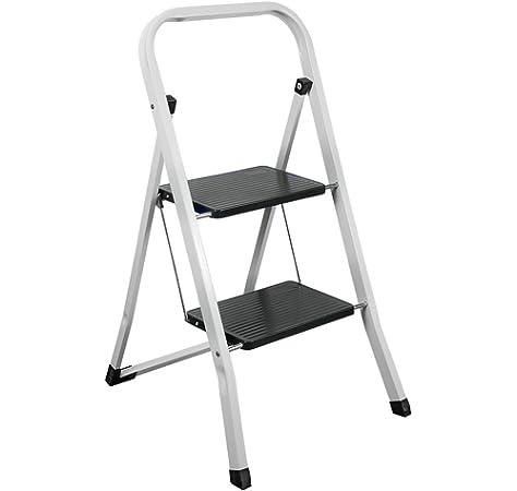 FRAMAR Slimmy 2 Taburete Escalera de Acero, 2 Peldaños: Amazon.es: Bricolaje y herramientas