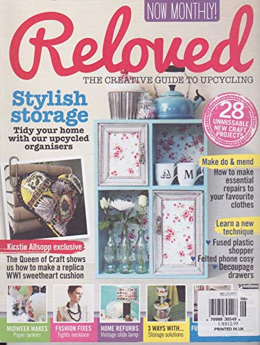 - Reloved THE CREATIVE GUIDE TO UPCYCLING, MARCH 2014, MAGAZINE, Stylish storage -A
