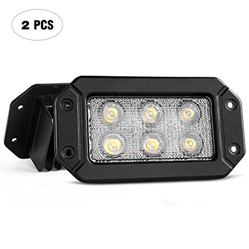 Nilight 2pcs LED Light Bar Flush Mounting Bracket,2 Year Warranty