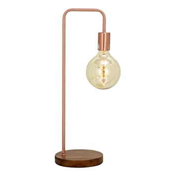 Benzara Chic Metal Copper Table Lamp With Bulb