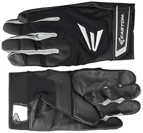 Easton HS3 Batting Gloves, Black, Small