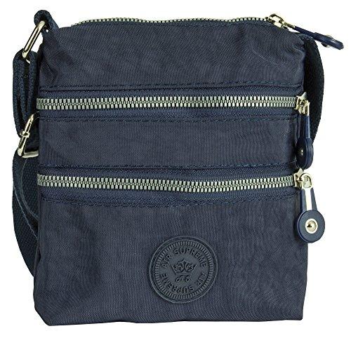 Shop Style para Big mujer de Handbag tela asas 1 de Bolso Navy 6wqTZ5