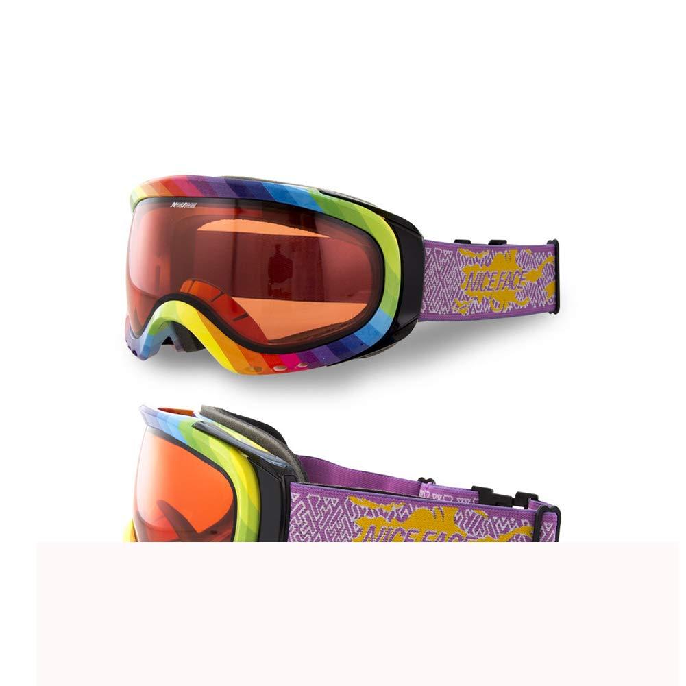 スキーゴーグル、UVプロテクション、スキースノーボードゴーグル、メガネスキー/スノーボード用ゴーグル、男性用、女性用&青少年用 (色 : D) D