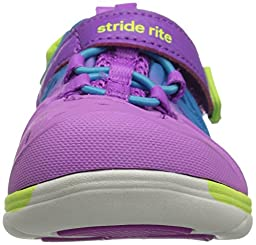 Stride Rite Made 2 Play Phibian Sneaker Sandal Water Shoe (Toddler/Little Kid/Big Kid), Magenta/Multi, 11 M US Little Kid