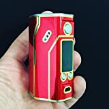 Wismec RX200 Skin Wrap Dual Chrome Red and Gold Skin by Jwraps