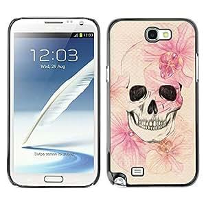 For SAMSUNG Galaxy Note 2 II / N7100 Case , Death Spring Meaning Deep Metal - Diseño Patrón Teléfono Caso Cubierta Case Bumper Duro Protección Case Cover Funda