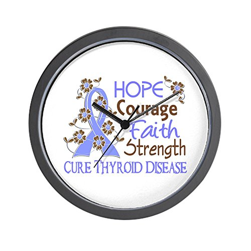 CafePress - Hope Courage Faith Thyroid Disease Shirts Wall Clo - Unique Decorative 10'' Wall Clock by CafePress