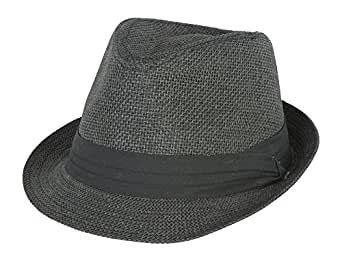 Black Tweed Cuban Hat