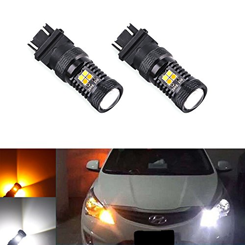 XSPEED Extremely Bright 3030 Chips 3157 3156 3457 4157 Dual Color White/Amber Yellow Switchback LED Bulbs For Turn Signal/Daytime Runing Lights